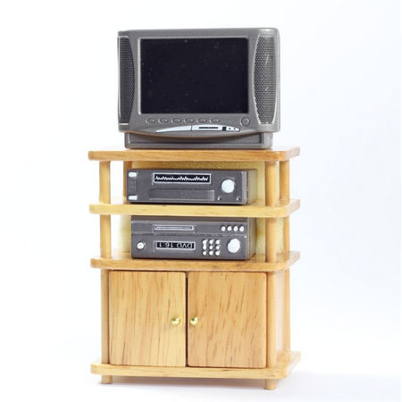 Modern TV Stand with TV & Accessoties