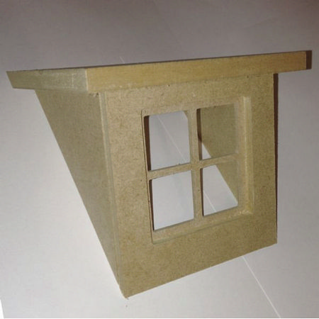All Weather Floor Mats >> Flat Roof Dormer Kit for 1:12 Scale Dolls House (BC125F ...