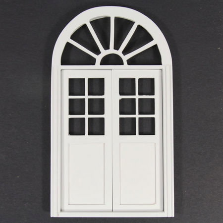 Arched Door White Painted - 1:12 scale