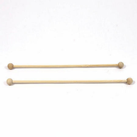 Wooden Curtain Poles - Set of 2