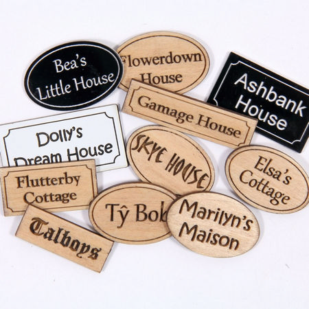 Engraved Dolls House Sign Plaque