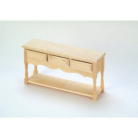 3 Drawer Dolls House Server - Plain Wood