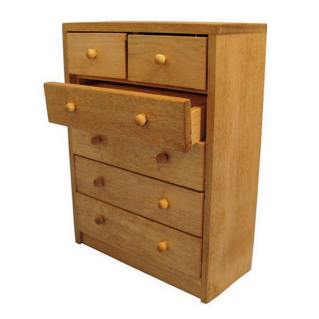 Chest of Drawers - 1:12 Scale - Plain Wood #2