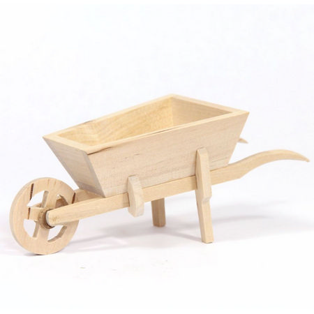 Natural Wood Garden Wheel Barrow