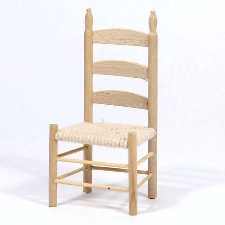 Rush Seat Chair - Plain Wood