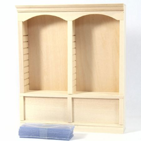 Dolls House Double Shop Shelf Unit