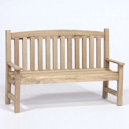 12th Scale Garden Bench - Plain Wood