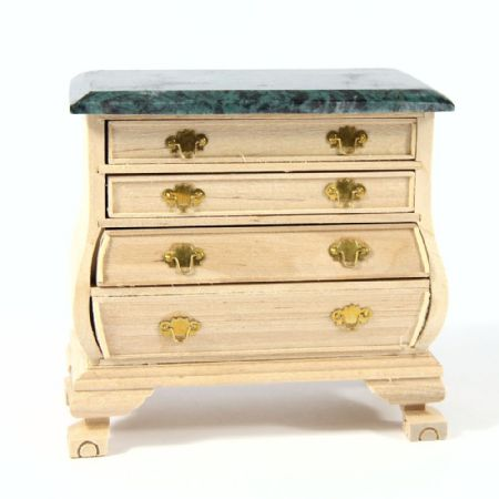 Chest of Drawers - 1:12 Scale - Plain Wood