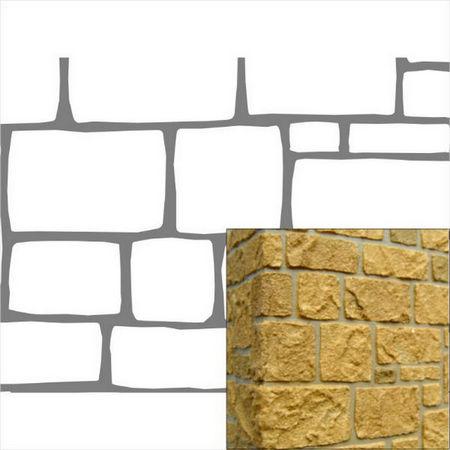 Stone Block Stencil Blk