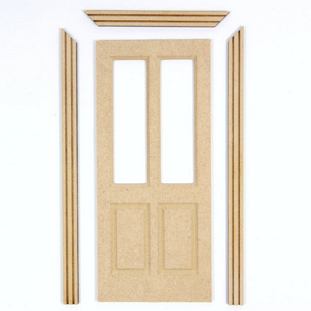 MDF Shop Door for 1:12 Scale Dolls House