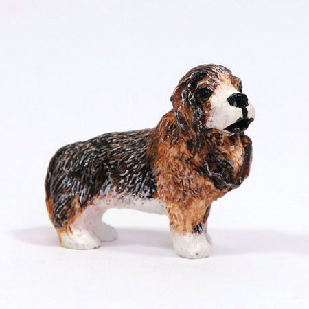 St Bernard Small Dog Figure