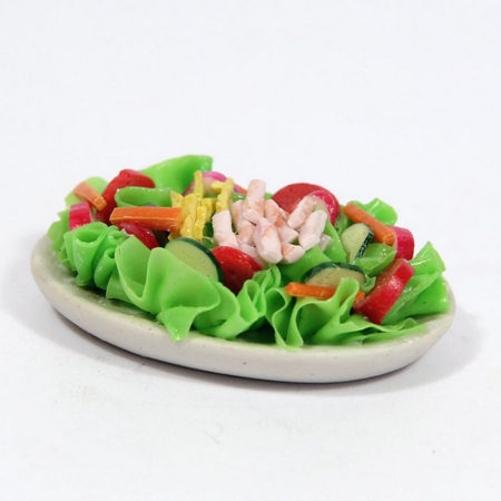 Large Ham Salad Platter for Dolls House