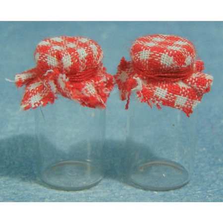 Glass Jam Jars with Cloth Lids