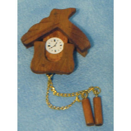 Swiss Wooden wall clock for Dolls House