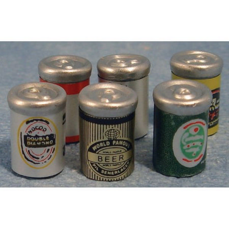 6 Miniature Beer Cans