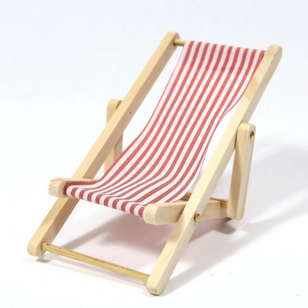 Miniature Red Deck Chair