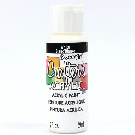 crafters acrylic 59ml acrylic paint white dca01. Black Bedroom Furniture Sets. Home Design Ideas