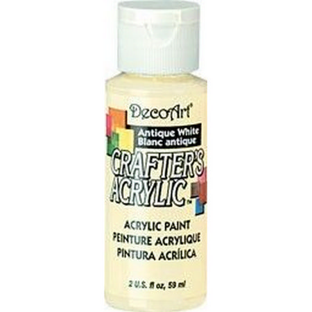 Crafters Acrylic - 59ml Acrylic - Antique White