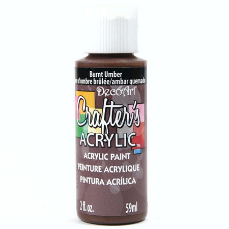 Crafters Acrylic - 59ml Acrylic Paint - Burnt Umber