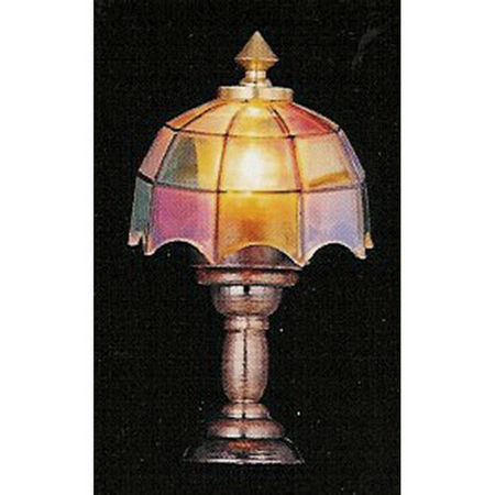 Tiffany Style Lamp - Multi-Coloured Shade (LT1012)