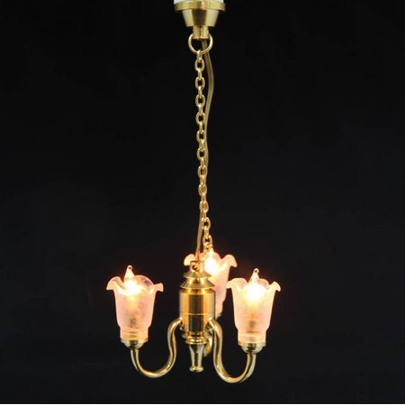 3 Light Tulip Shade Chandelier (LT6007)