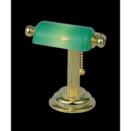 Dollshouse Desk Lamp with Green Shade