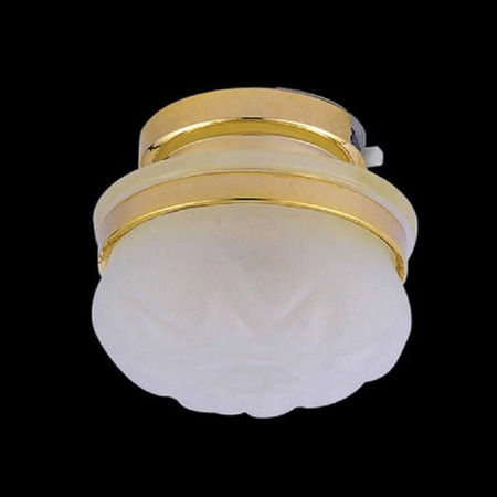 Frosted Ceiling Light - LED - Plus Battery
