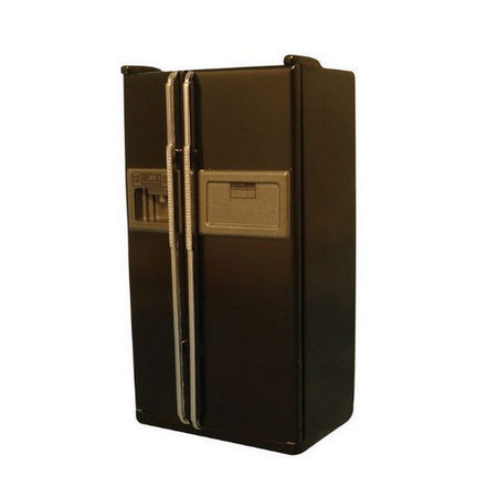 Delux American Fridge, Black - 1:12