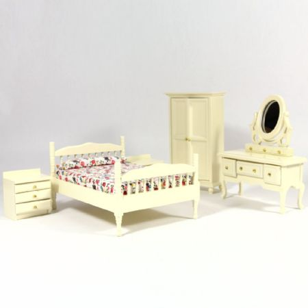 cream dolls house bedroom furniture set furniture sets df1132 from