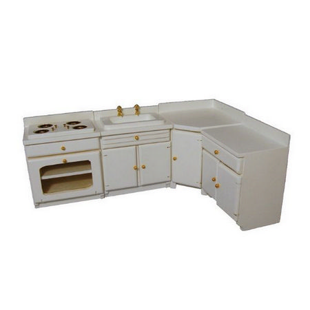 White kitchen unit set furniture df1188 from bromley for Kitchen unit set