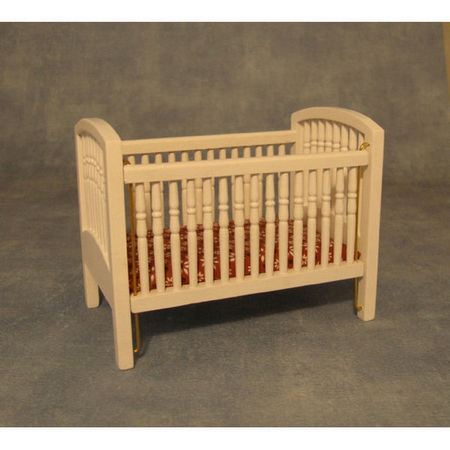 12th Scale Large Cot - White