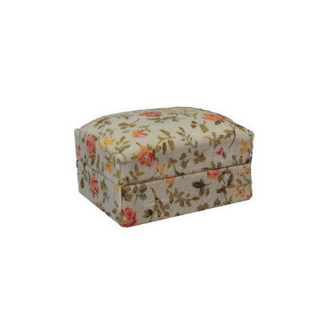 Floral Foot Stool for 12th Scale Dolls House