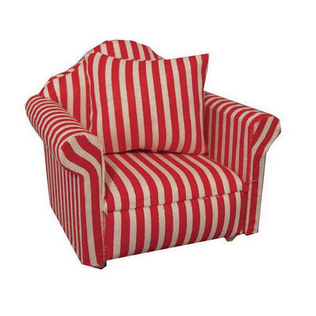 Red & White Dolls House Chair