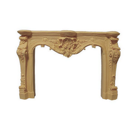 Ornate Carved Cream Fireplace for 12th Scale Dollshouse