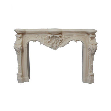 Ornate Carved White Fireplace for 12th Scale Dollshouse