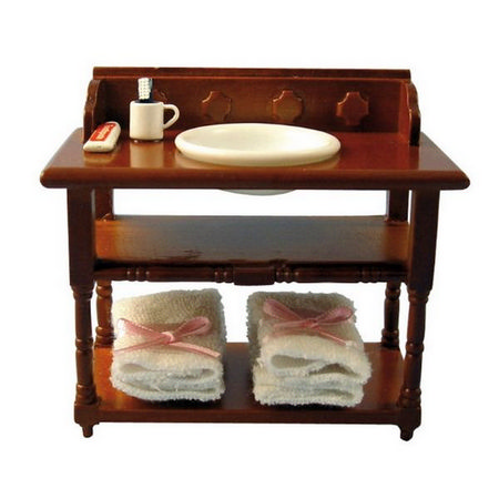 Dolls House Wash Stand with Accessories