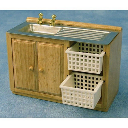 Kitchen Sink Unit With Baskets