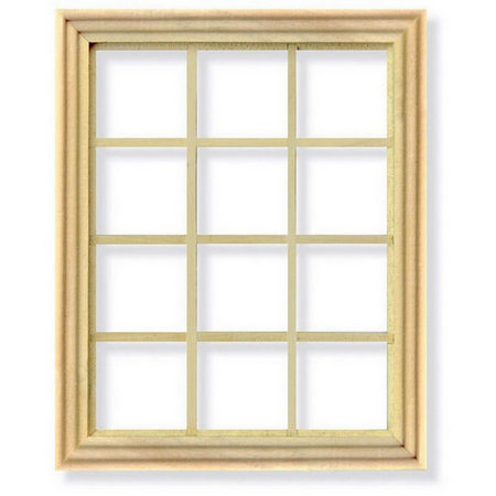 12 Pane Window Frame for 1:12 Scale Dolls House