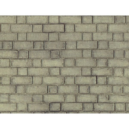 Grey Brick Wallpaper for Dolls House 1:12 Scale