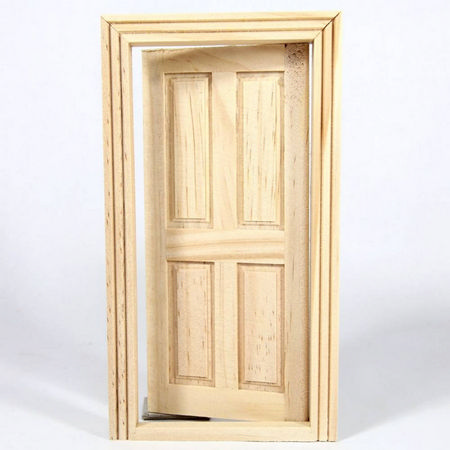 Wooden Cottage Interior Door (Small) - 4 Panel #2
