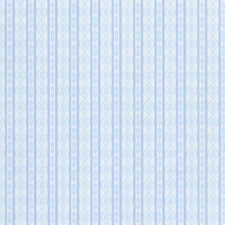 Palace Stripe Blue Dolls House Wallpaper