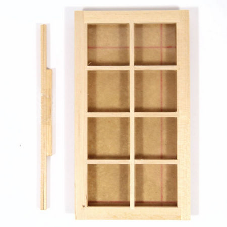 8 Pane Window Frame for 1:12 Scale Dolls House