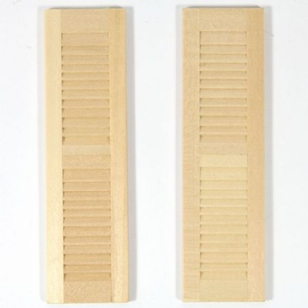 Pair of Louvre Shutters for 1:12 Scale Dolls House