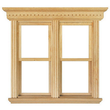 Opening Double Sash Window Frame 1 12 Scale Diy184