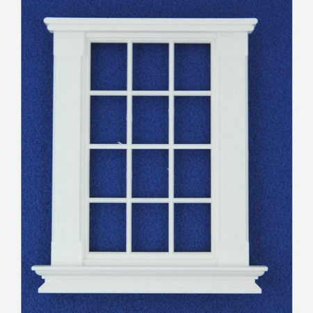 Georgian 12 Pane Window (Plastic) 1:12 scale