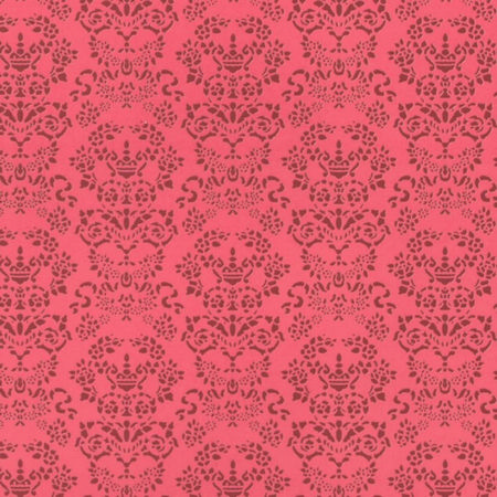 Renaissance Dolls House Wallpaper - Red on Red