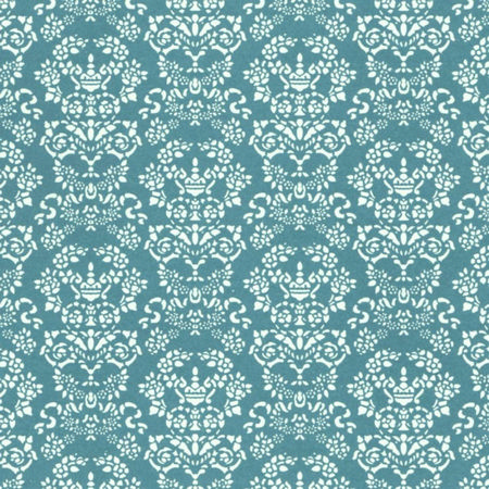 Renaissance Dolls House Wallpaper White On Blue Diy279wb