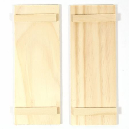 Pair of Window Shutters for 1:12 Scale Dolls House