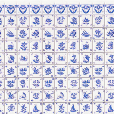 Blue Delft Wall Tiles Sheet