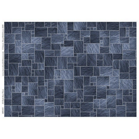 Dark Slate Floor Tile Sheet for 1:12 scale Dolls House